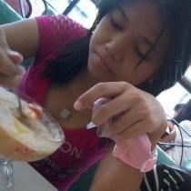 Was eating halo-halo xD